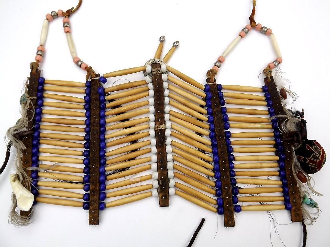 Native American Indian Breastplate Necklace of Bone - 8