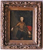16th-17th C. Period Oil Painting of a Nobleman in Fancy
