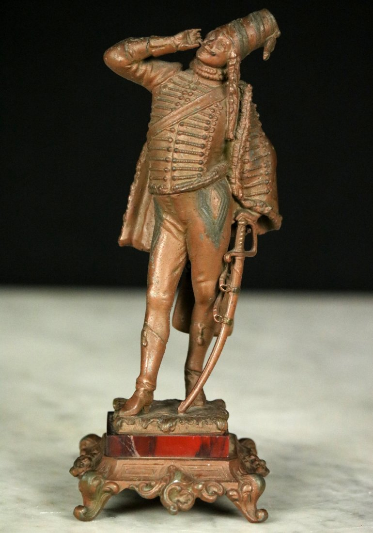 19th C. Cast Metal Statute Figure of French Napoleonic