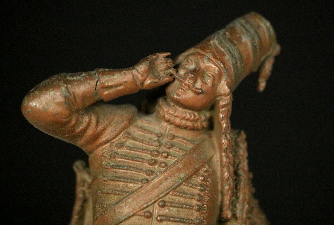 19th C. Cast Metal Statute Figure of French Napoleonic - 3