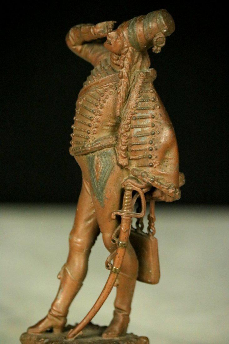 19th C. Cast Metal Statute Figure of French Napoleonic - 4