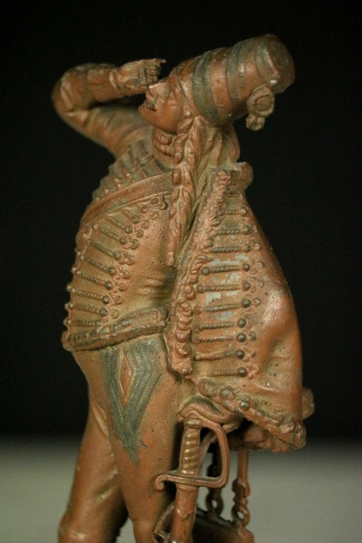 19th C. Cast Metal Statute Figure of French Napoleonic - 5
