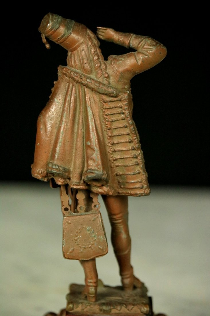 19th C. Cast Metal Statute Figure of French Napoleonic - 6