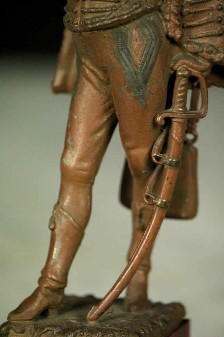 19th C. Cast Metal Statute Figure of French Napoleonic - 7