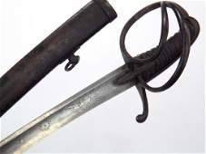 Early French Napoleonic era Damascus Hussar Sword,