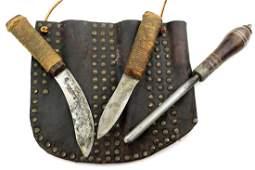 Nice 19th C. English Sheffield Buffalo Skinning Knife