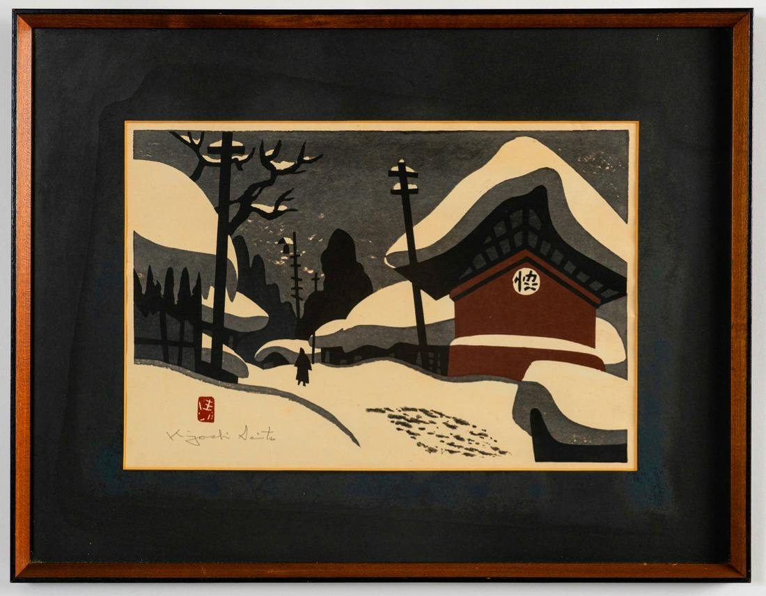 Japanese print by Well Known Artist Kiyoshi Saito