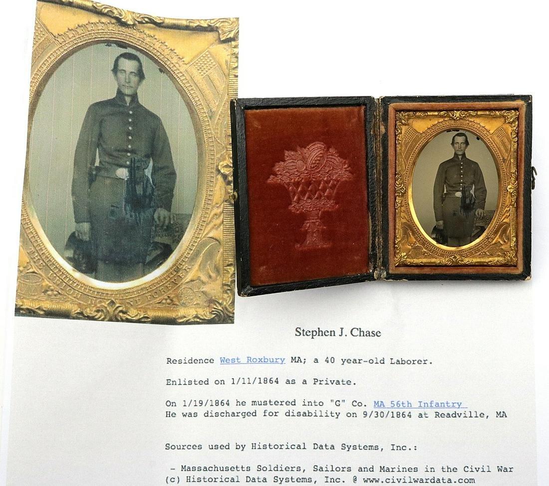 An American Civil War era 1/9 Plate Ambotype Image of a