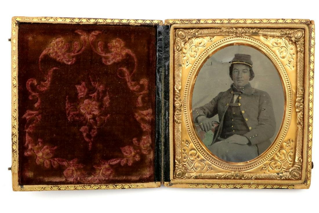 A Very Good American Civil War era 1/6 Plate Tintype