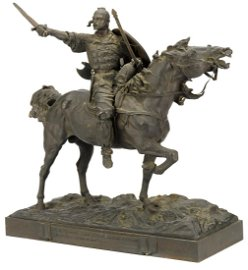 Bronze Russian Figure Svyatoslav On the Way to Tsars