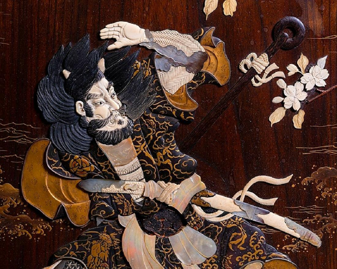 Fabulous 19th C. Japanese Monumental Screen Panel ~