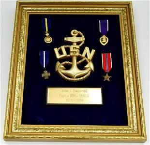 Commemorative Discharge Plaque Display of Miniature