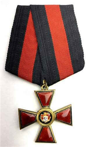 Russian Imperial ORDER OF ST. VLADIMIR. Cross. 4th