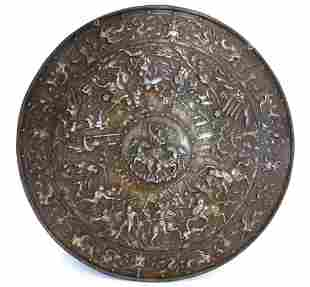 Spectacular Large Iron Shield of Italian or Spanish