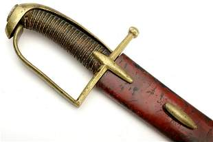 Rare 18th C. French or Hungarian Hussar Sword ~ Marked