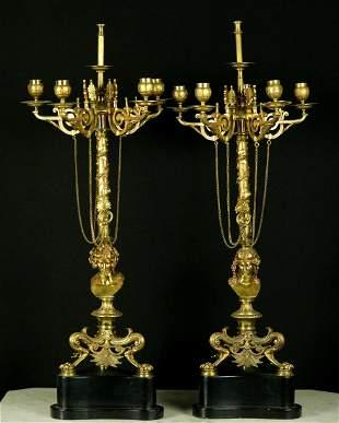 Very Impressive Pair of Antique Empire Style DORE