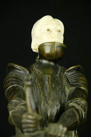 Amazing Antique Bronze of a Knight with Sword ~ Killing
