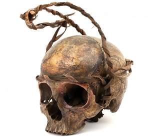 Rare 19th C. Indonesian Dayak Headhunter