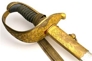 Scarce 19th C. German Imperial Miner Sword for High
