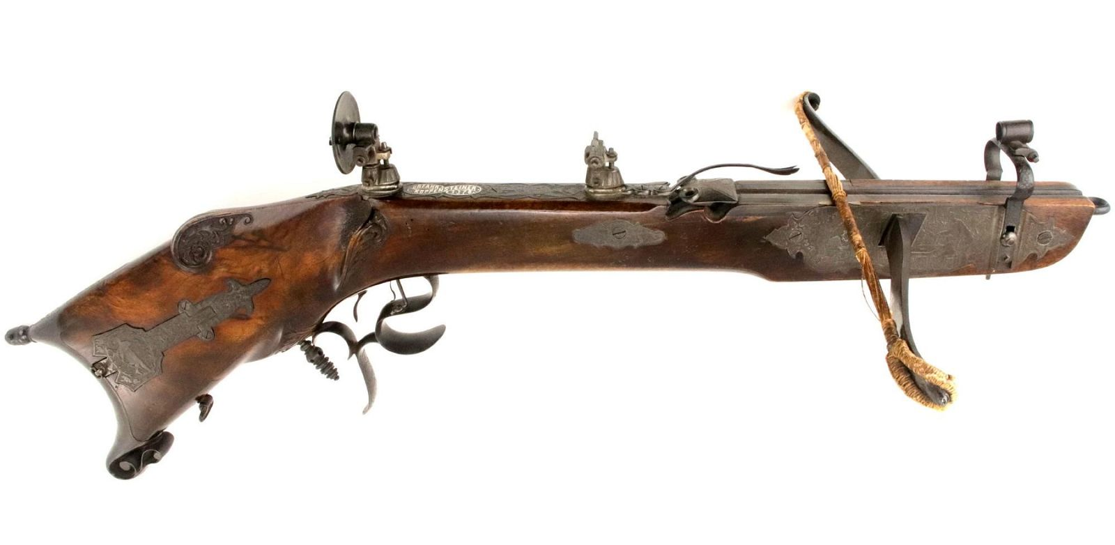 Exquisite Presentation 1878 German Crossbow with