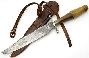 Rare 19th C. English or American Gambler's Bowie Knife