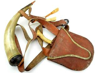 American Frontier's Belt Rig with Large Powder Horn,