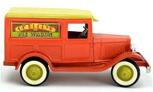 Vintage 1960's OL' BUDDYS PIE WAGON Pressed Steel Toy