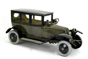 Tin JEP J de P Renault Renault Sedan Clockwork Toy