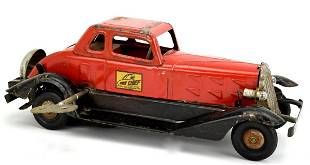 Vintage Hoge Pressed Steel Girard Fire Chief Car Windup