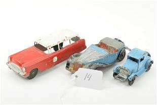 Lot Of 3 Vintage Metal Tootsie Toy Cars