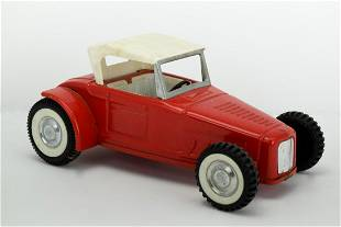 Vintage Nylint Ford Roadster Hot Rod Pressed Steel Red