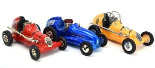 Lot 3 NYLINT DIECAST MITE RACE CAR THIMBLE DROME