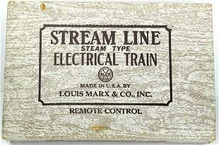 Vintage Marx Stream Line Electric Train Set In Original