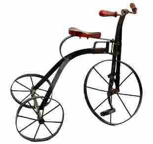 Antique 3-Wheel Toy Bicycle for Large Doll or Teddy