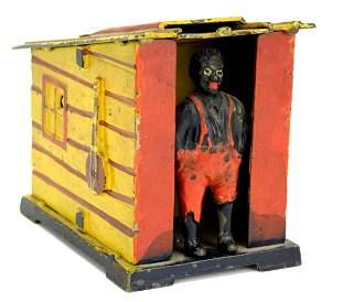 'Man In Cabin' Cast-Iron Mechanical Bank c.1885