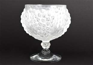 Stunning Lalique Antilles Frosted Grape Cluster Bowl