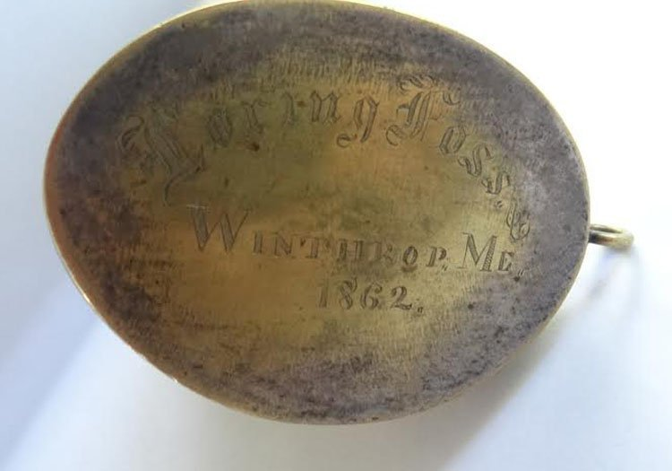 Civil War Navy Silver Mounted Powder Horn - 2
