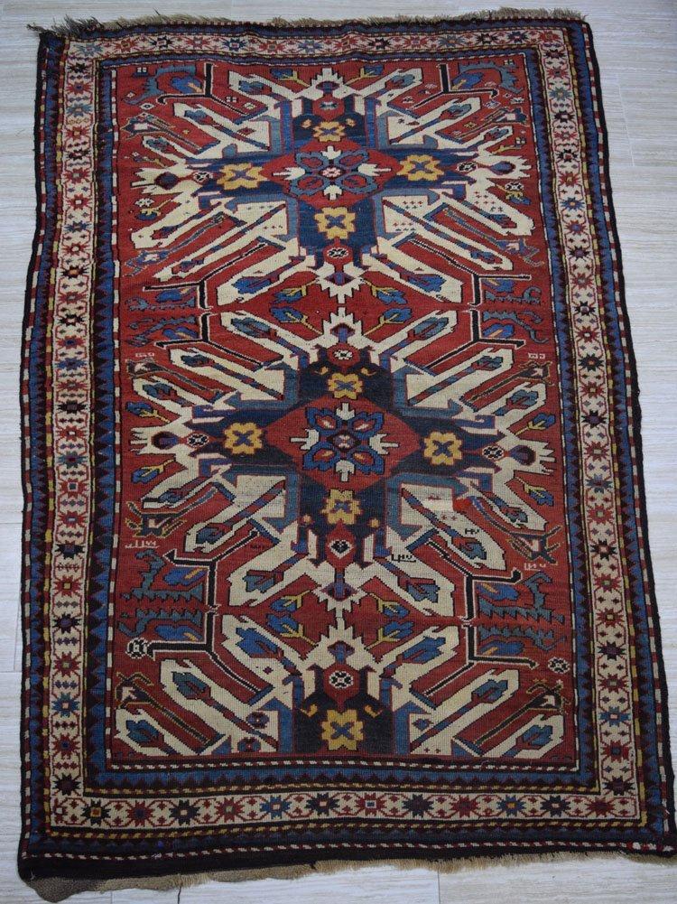 19th Century Caucasian Inscribed Chelaberd Rug