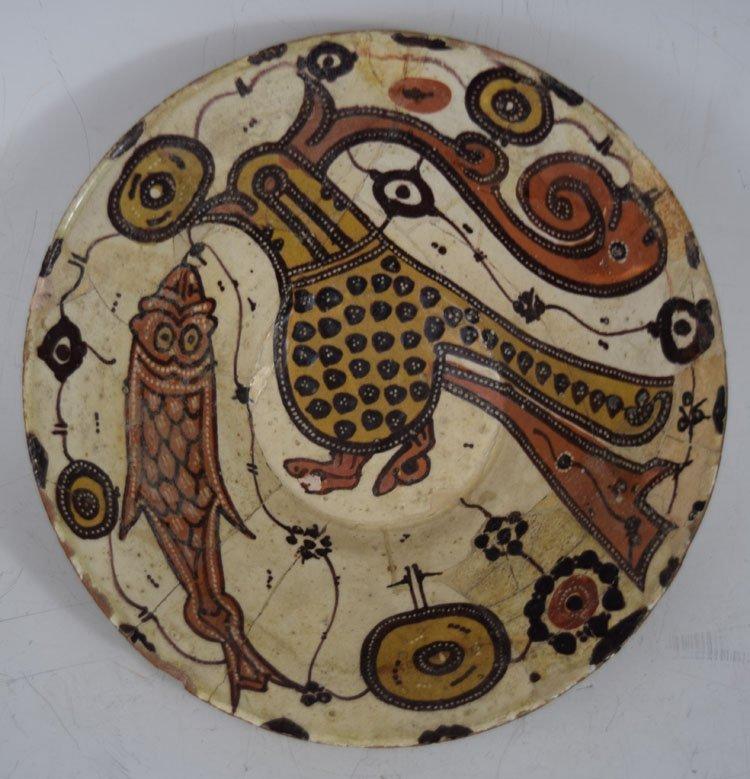 12th century Persian Islamic Nishapur Ceramic Bowl