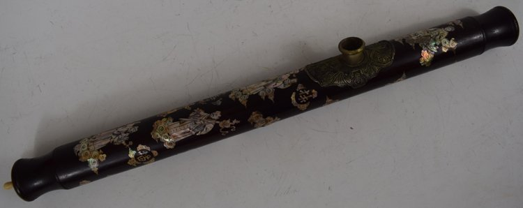 19th Century Chinese Decorated Opium Pipe