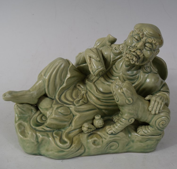 Chinese Old Man Porcelain Figure
