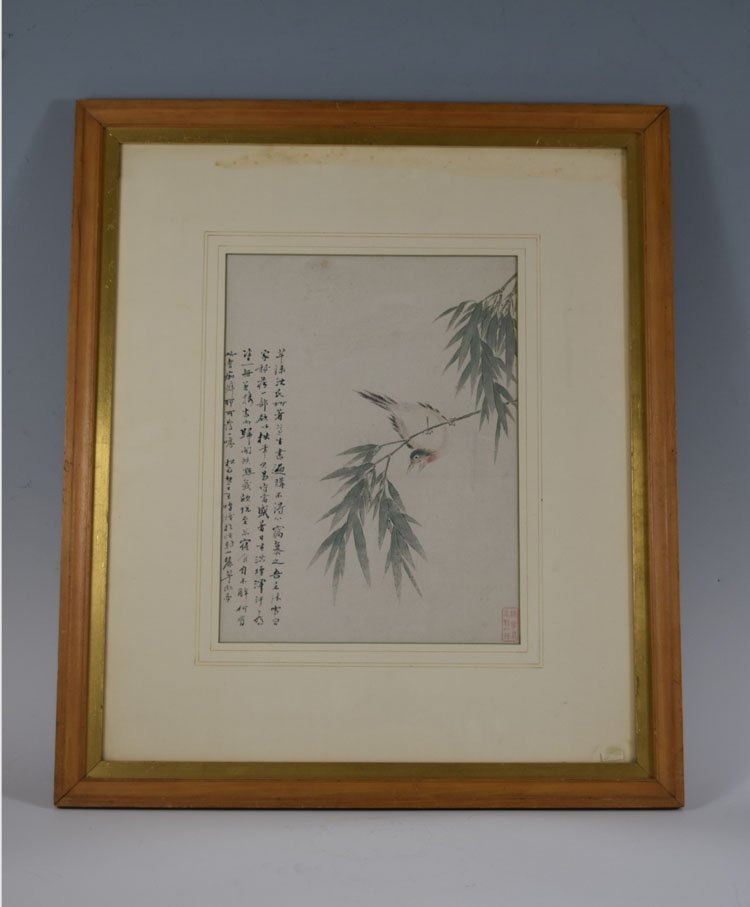 Chinese 19th Century Painting with Calligraphy