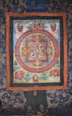 Early 20th Century Chinese Tibetan Tanka