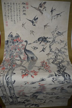 Large Chinese Scroll Paintings