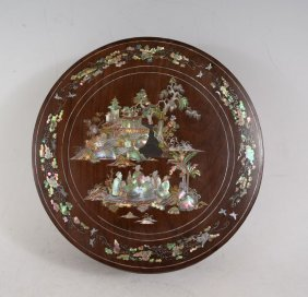 Chinese Mother Of Pearl Inlaid Jewelry Box