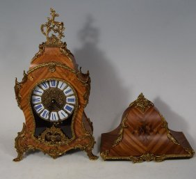French Wall/mantel Dore Bronze Venner Inlaid Clock