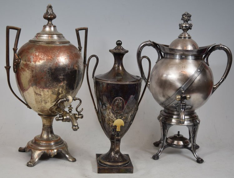 Three 19th Century Tea Urns