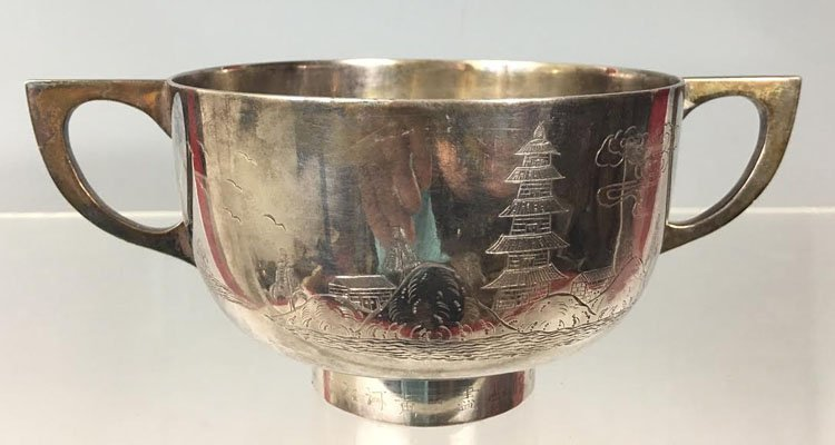 Antique Chinese Silver Bowl Dish - 2