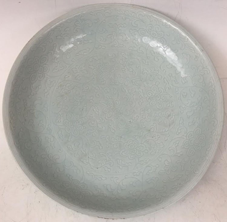 19th Century Chinese Celadon Charger