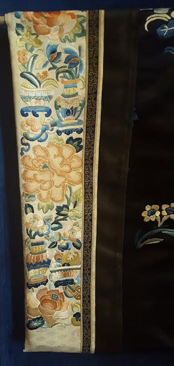 19th C. Chinese Qing Dynasty Silk Embroidery Robe - 3